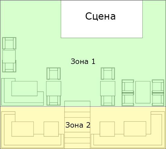 Схема первого этажа РК Француз